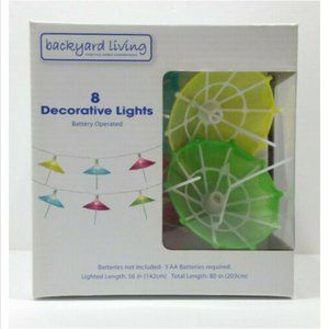 8 Decorative Drink Umbrella String Lights 3503E2M